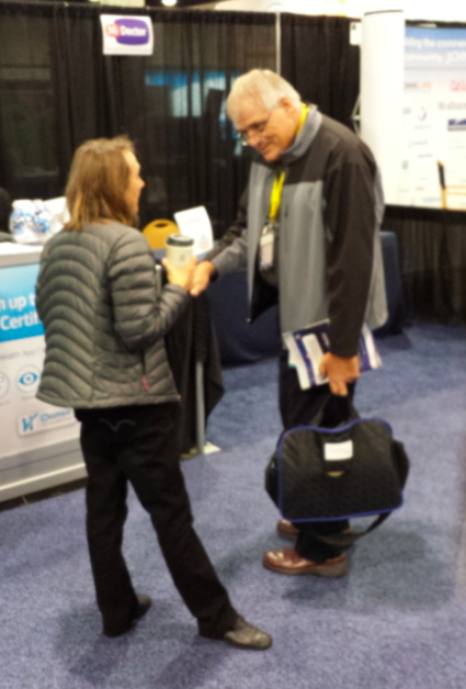 Dr Bickford and Ester Dyson meet #mHealth13