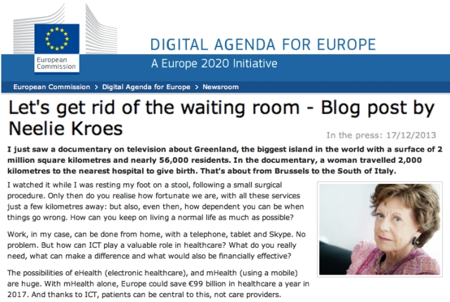 Neelie Kroes Lets get rid of the waiting room