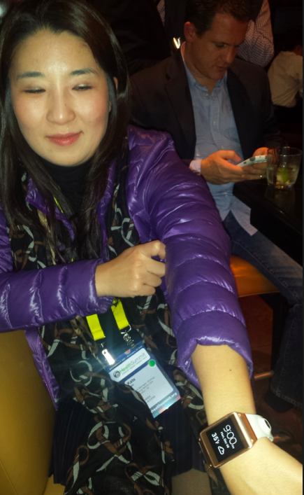 Samsungs Katie Kim wears her mHealth tech on her wrist #mhealth13