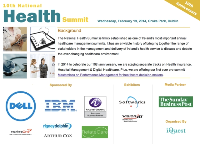 10th National Health Summit Croke Park Dublin