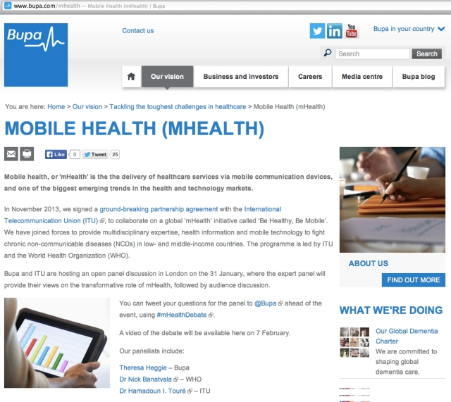Bupa mHealth mHealthDebate meeting