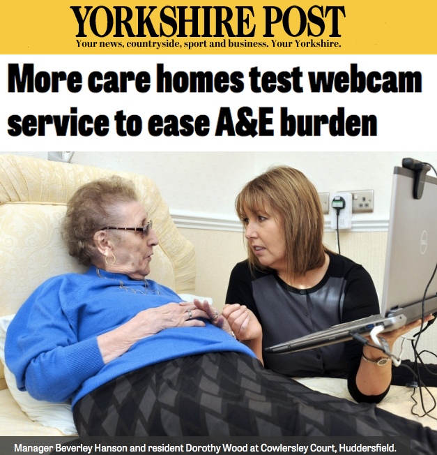 Yorkshire Airedale NHS Foundations testing outdated laptop tech to make video consults into care homes
