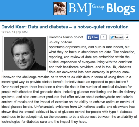 BMJ Group Blogs David Kerr Data and DIabetes a not so quiet revolution