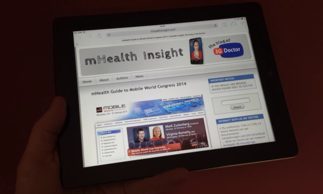Comprehensive mHealth Guide to MWC14 on iPad