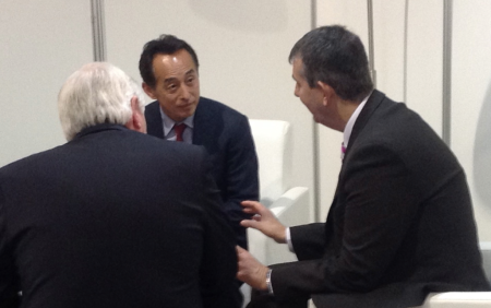Edwin Poots meeting with Young Sohn President and CSO Samsung #MWC14