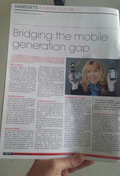 Eveline Pupeter Emporia Telecom Bridging the mobile generation gap MWC14 Daily
