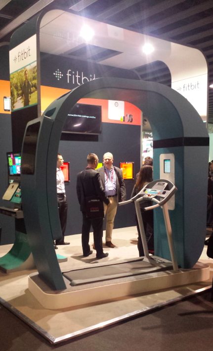 Fitbit booth MWC14 with treadmill