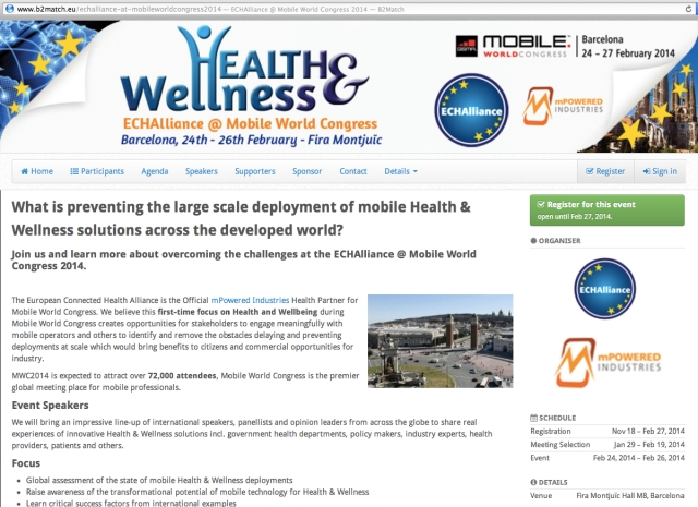 Health and Wellness ECHAlliance at Mobile World Congress mPowered Industries Health