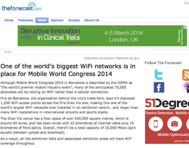 WiFI at MWC14
