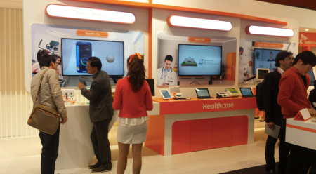 SKTelecom Healthcare focused booth MWC14