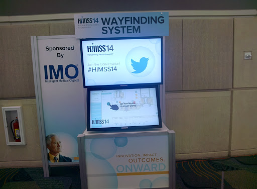 This is a big event Wayfinding System #HIMSS14