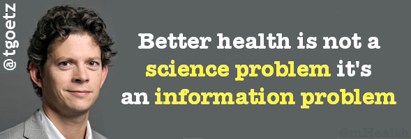Thomas Goetz Better Health is not a science problem its an information problem