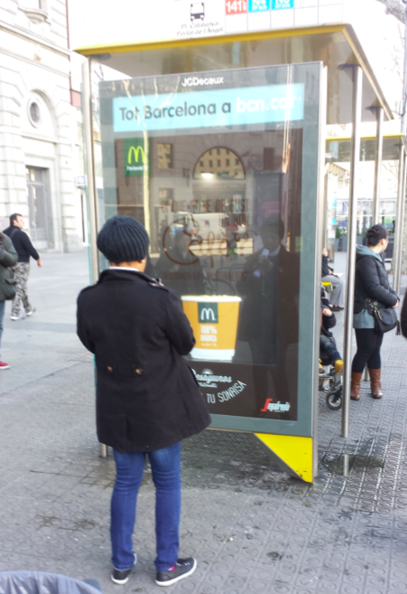 Your ad is working if passers by are stopping to take pics of your bus shelter advert #MWC14