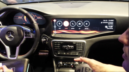Connected in car experience with Qualcomm and Mercedes MWC14