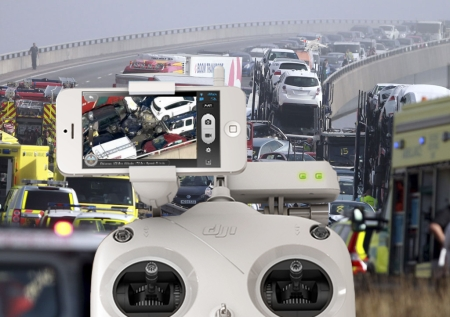 Are mobile phone controlled drones going to transform how we manage major road traffic incidents and wake emergency service planners up to the 3G Video Calling opportunity