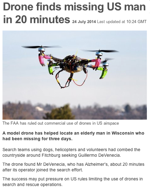 BBC Drone finds missing man