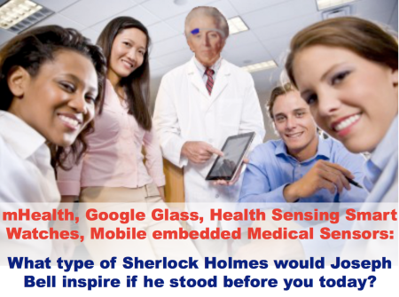 mHealth GoogleGlass what type of Sherlock Holmes would Joseph Bell inspire today