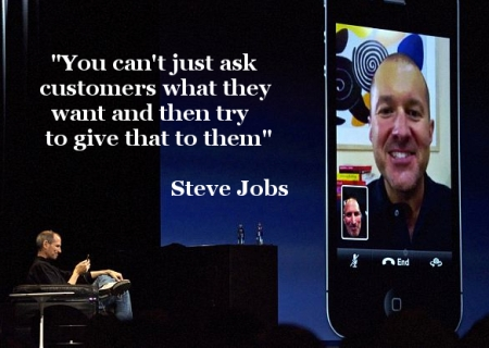 Steve Jobs ask customers what they want Facetime