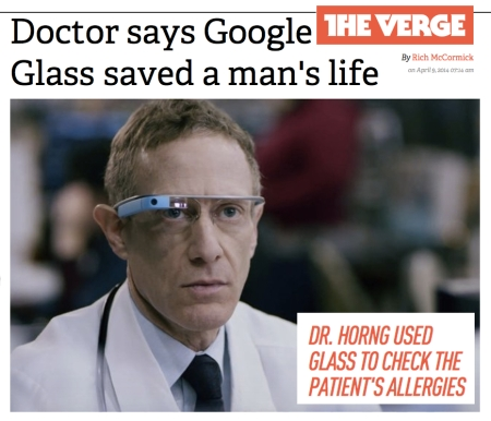 The Verge Doctor says Google Glass saved a mans life