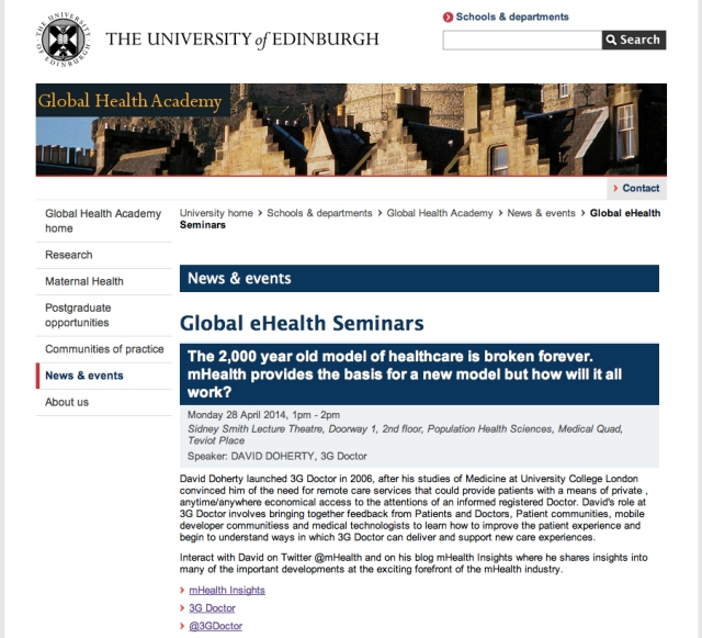 University of Edinburgh Global eHealth Series mHealth Insight