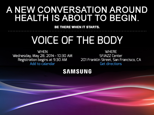 Samsung mHealth Voice of the Body