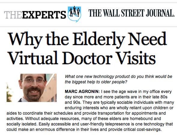WSJ Video Consults with a Doctor the single biggest tech product that could help seniors