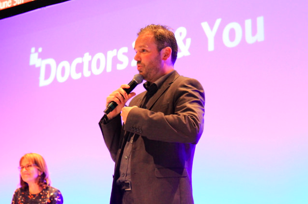 David Doherty presenting at #Doctors20