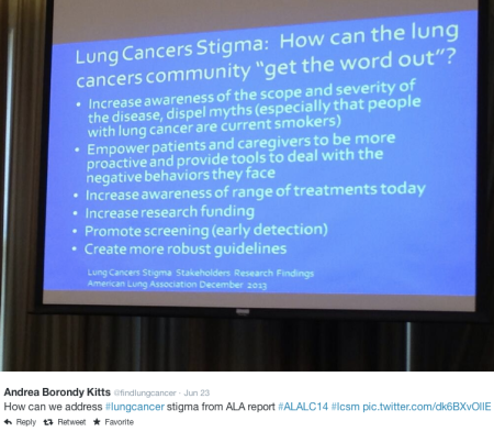 Lung Cancers Stigma #FindLungCancer