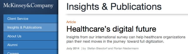 McKinsey and Company Healthcares Digital Future