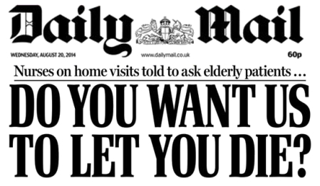 DailyMail Do you want us to let you die