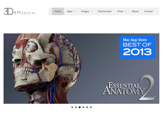 3D4Medical Website