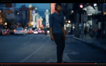 Android One launch video showing skateboarding in the road into oncoming traffic listening to music on headphones