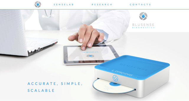 BlueSense Diagnostics Website