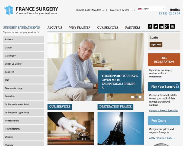France Surgery Website