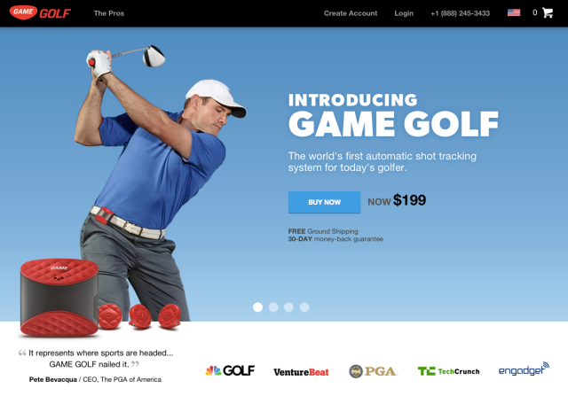GameGolf Website