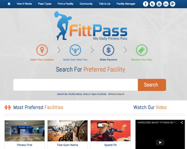 MyFitPass Website