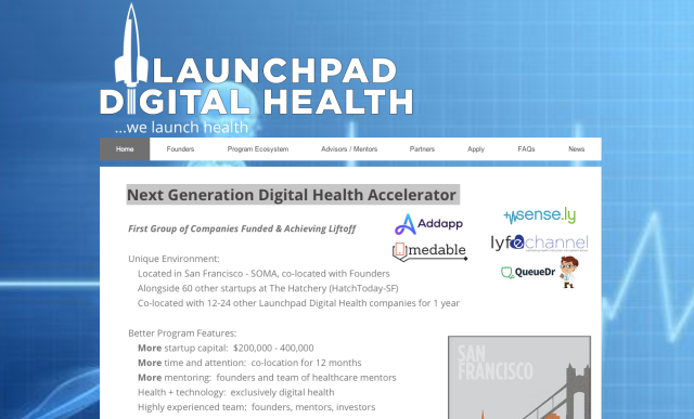 LaunchPad Digital Health Website