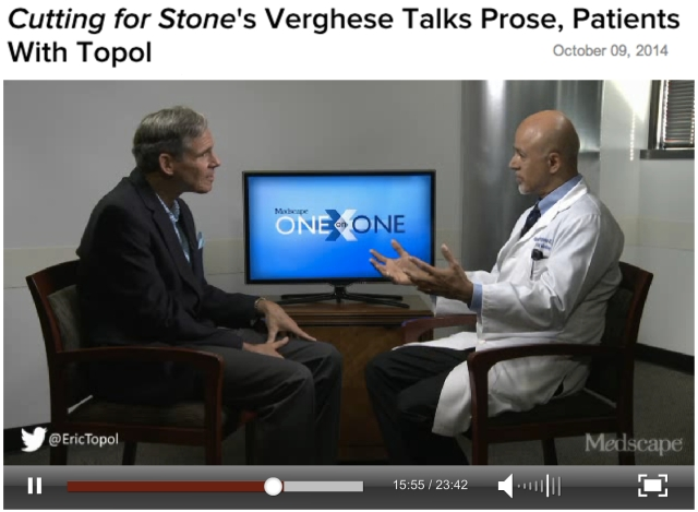 Medscape OneXOne Eric Topol and Abraham Verghese