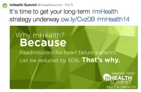 mHealth Summit Why mHealth Tweet