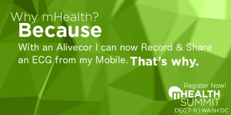 mHealth Summit Why mHealth with an Alivecor I can now record and share an ECG