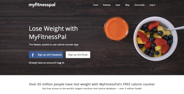 MyFitnessPal Website