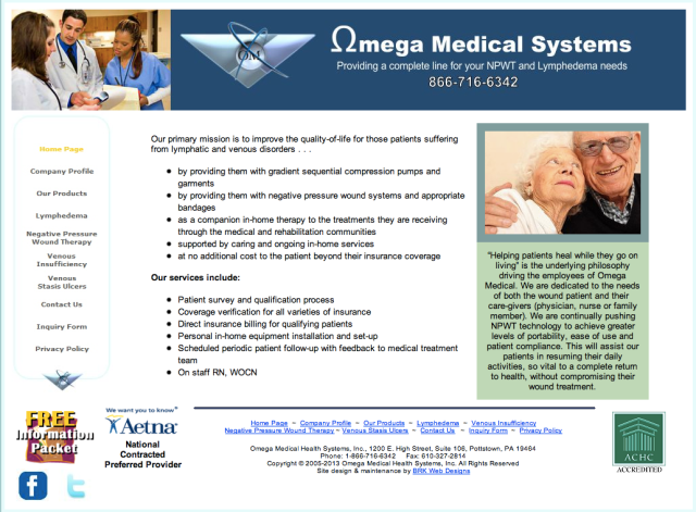 Omega Medical Systems Website