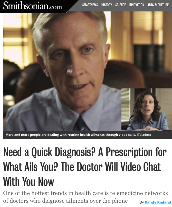 Smithsonian The Doctor Will Video Chat with you now