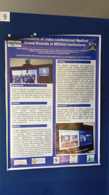 GetHealth Poster Evaluation of Video Conferenced med grand rounds