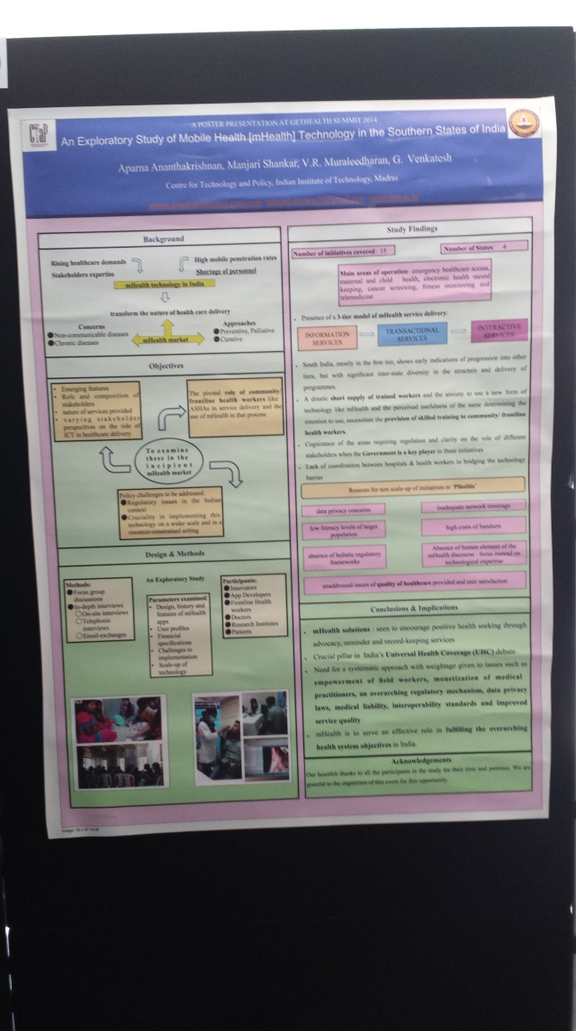 GetHealth Poster Exploratory Study of mHealth in Southern States of India