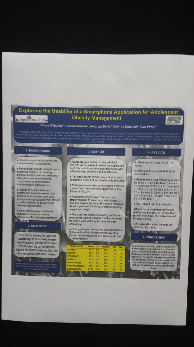 GetHealth Poster Exploring the usability of a app for adolescent obesity management