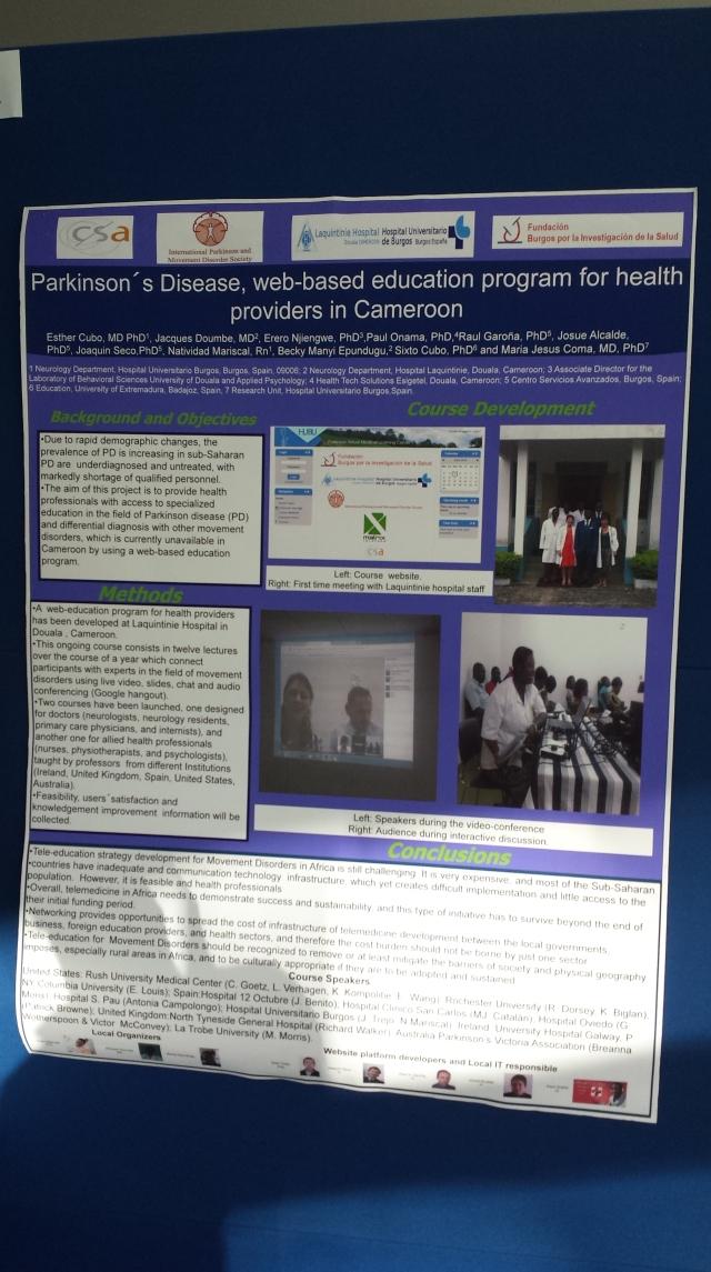 GetHealth Poster Parkinsons Disease web based edu program for health providers in cameroon