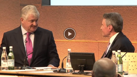 Reza Jafari interviews Denis OBrien at the 2014 GetHealthSummit