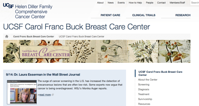 UCSF Carol Franc Buck Breast Care Center