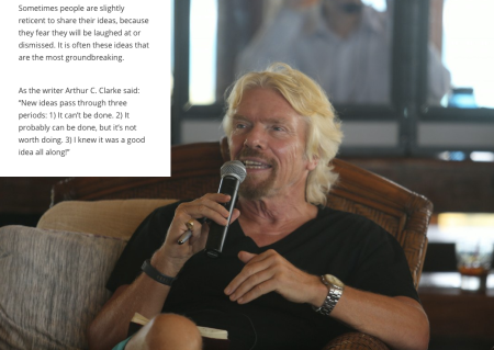 Richard Branson What Changes the World